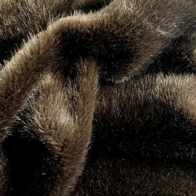 medium pile (1cm) high quality faux mink fur in Marrone Brown