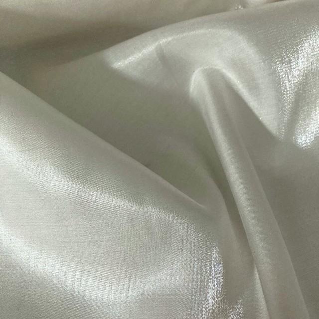 modisch glänzendes Duchesse Imitat in Off-White | Ansicht: modisch glänzendes Duchesse Imitat in Off-White