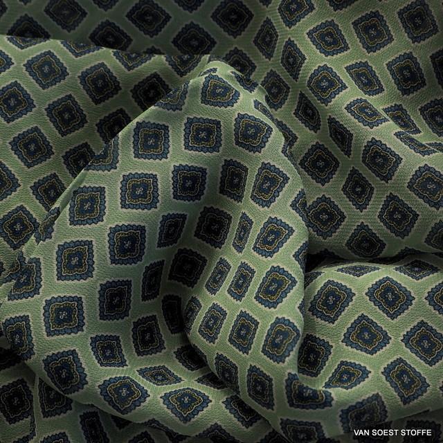 Modisches Krawatten Dessin auf Viskose Crepe