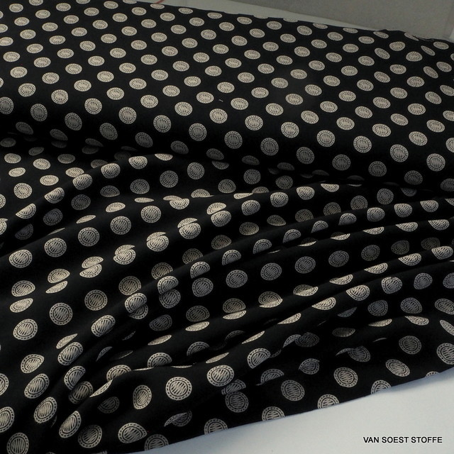 Modisches Krawatten Dessin auf Viskose Musseline