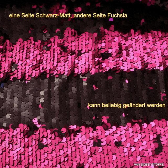 Pailletten Zauber in Fuchsia Schwarz-Matt.
