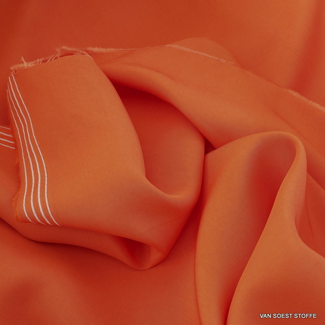 100% Rolva Taffeta in Orange