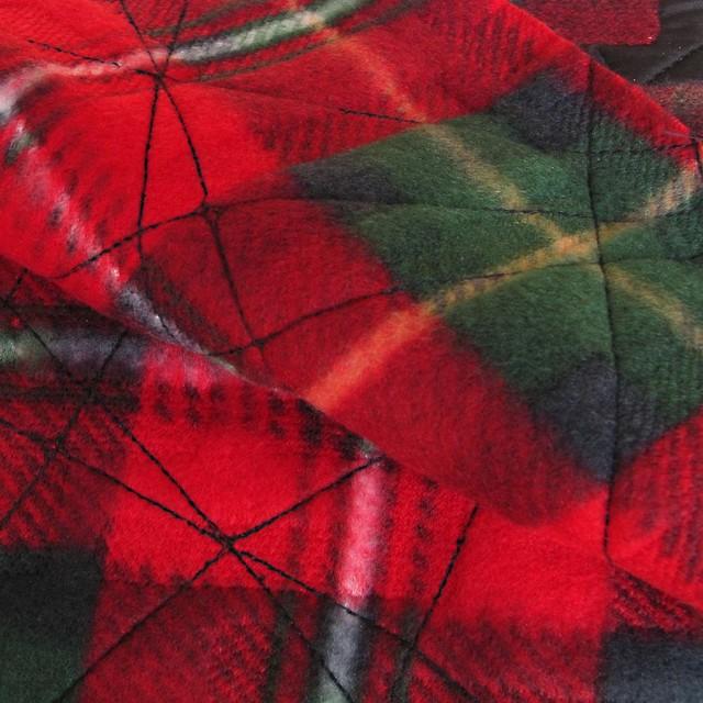SCHOTTEN-FLANNEL BESTICKT, Farbe Rot
