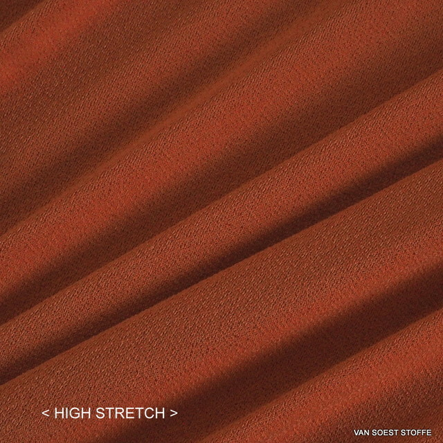 Softer feiner Stretch Krepp Jersey in Orange