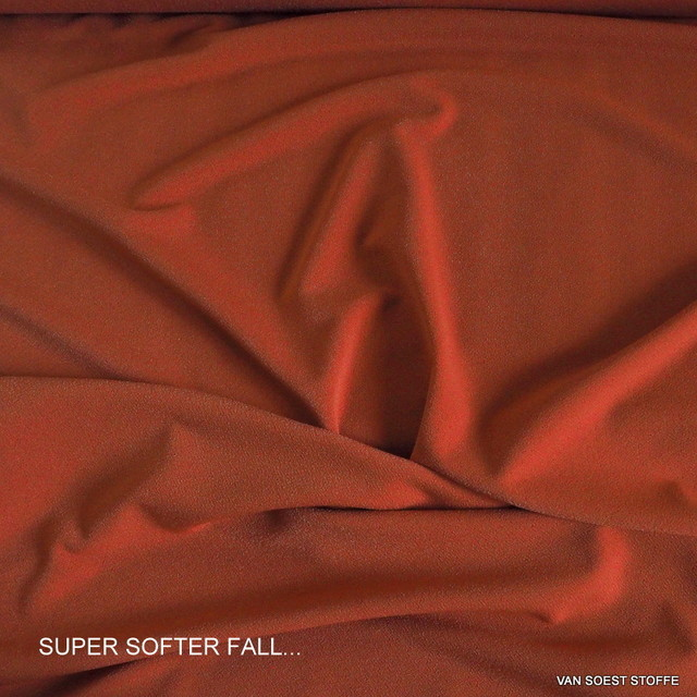 Softer feiner Stretch Krepp Jersey in Orange