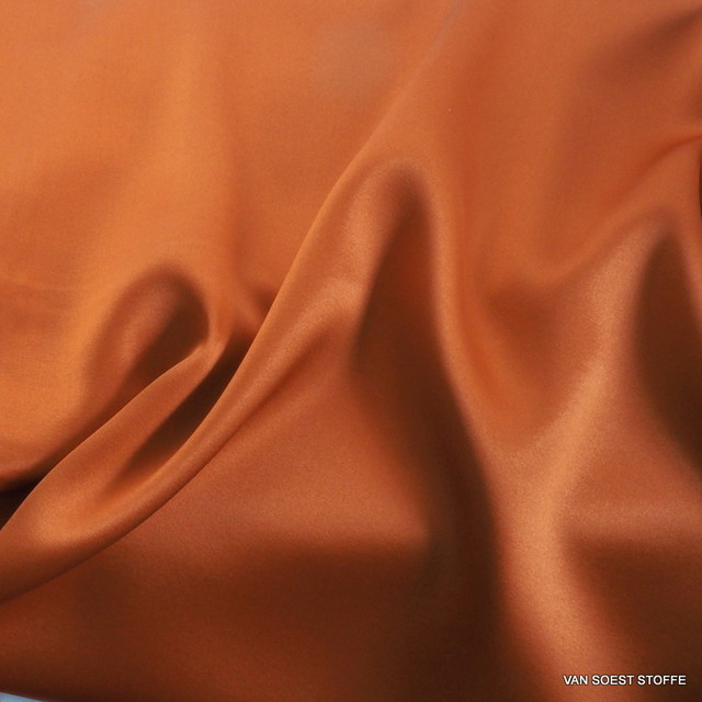 Stretch 100% Seiden Satin in Orange