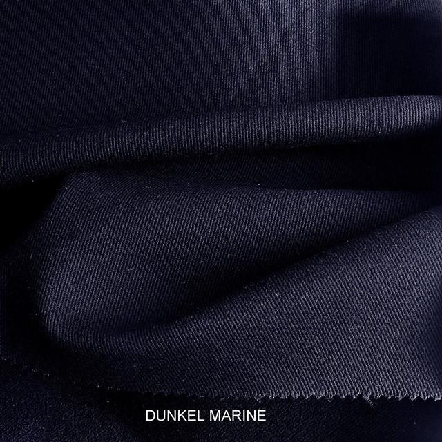 Stretch Baumwoll Köper in Marine