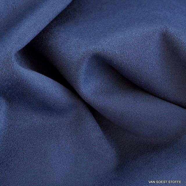Stretch Lederimitat Cashmira in Kobalt Blau