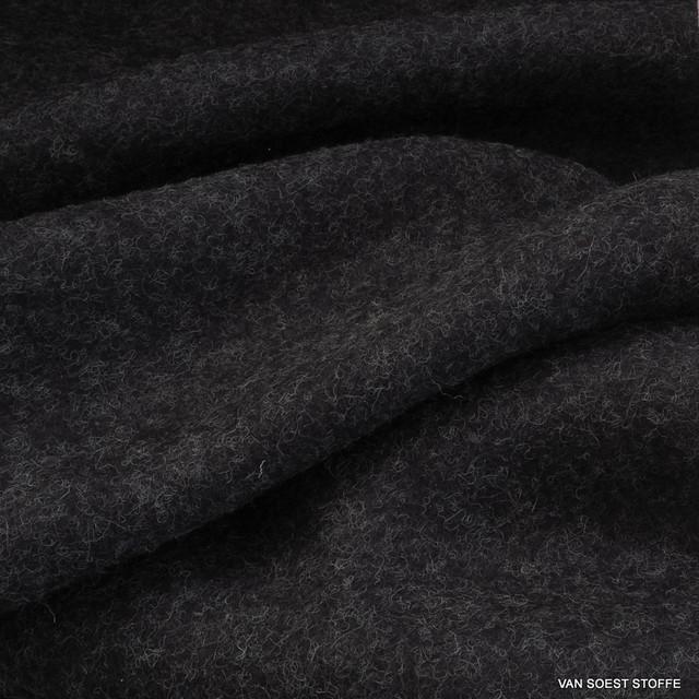 Stretch Soft Walk Strick in Melange-Grau