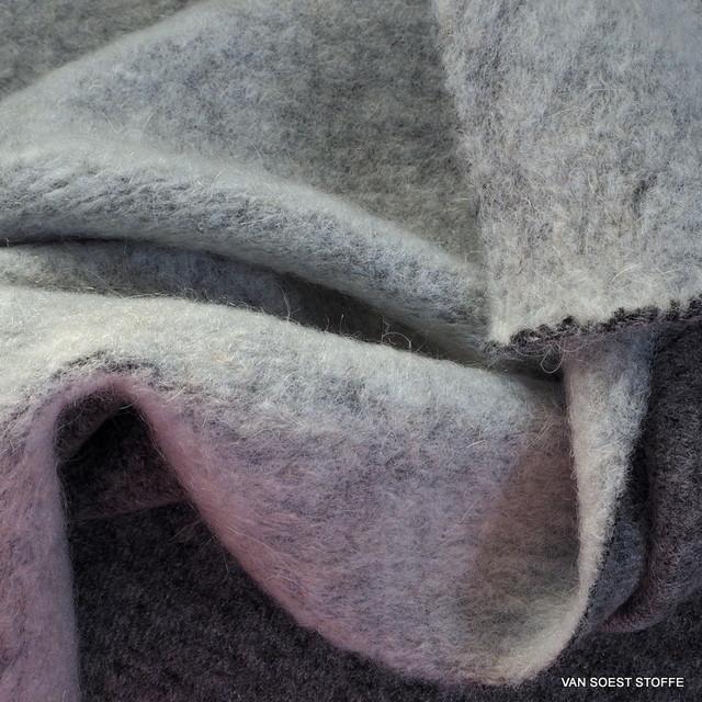 Stretch Soft Walk Strick in Melange-Hellgrau