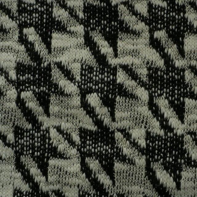 Stretch Strick Hahnentritt in Schwarz-Weiß