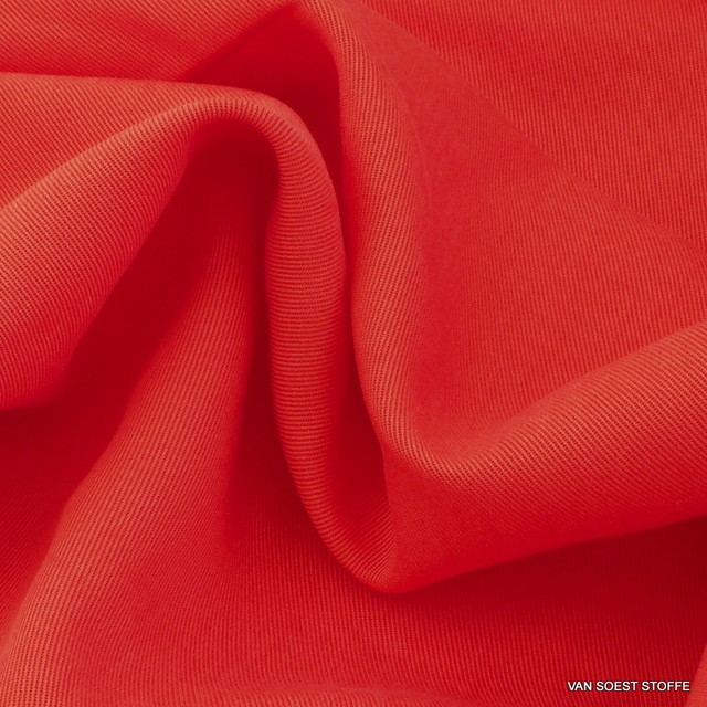 100 % TENCEL® schwerer 3/1 Soft Gabardine in Orange