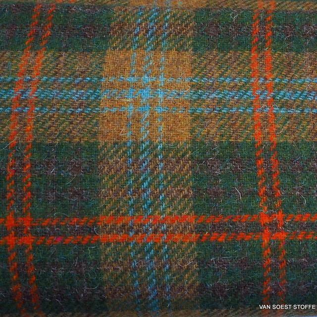 Überkaro in 100% Shetland Wolle.