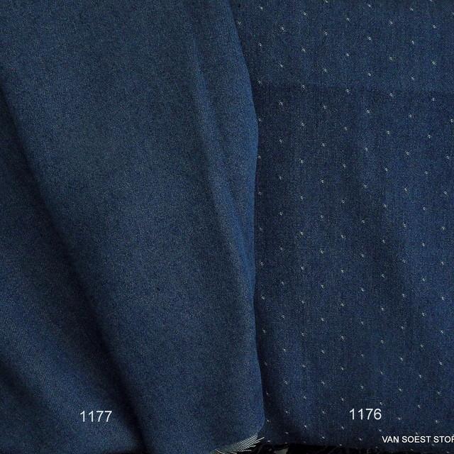 Weicher Jeans Stoff in dunkel Blau 008