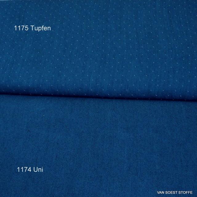 Weicher Jeans Stoff in Jeans Blau 007