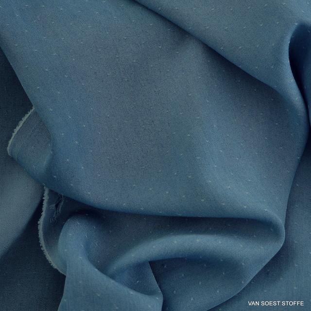 Weicher Jeans Tupfen Stoff in bleu 006