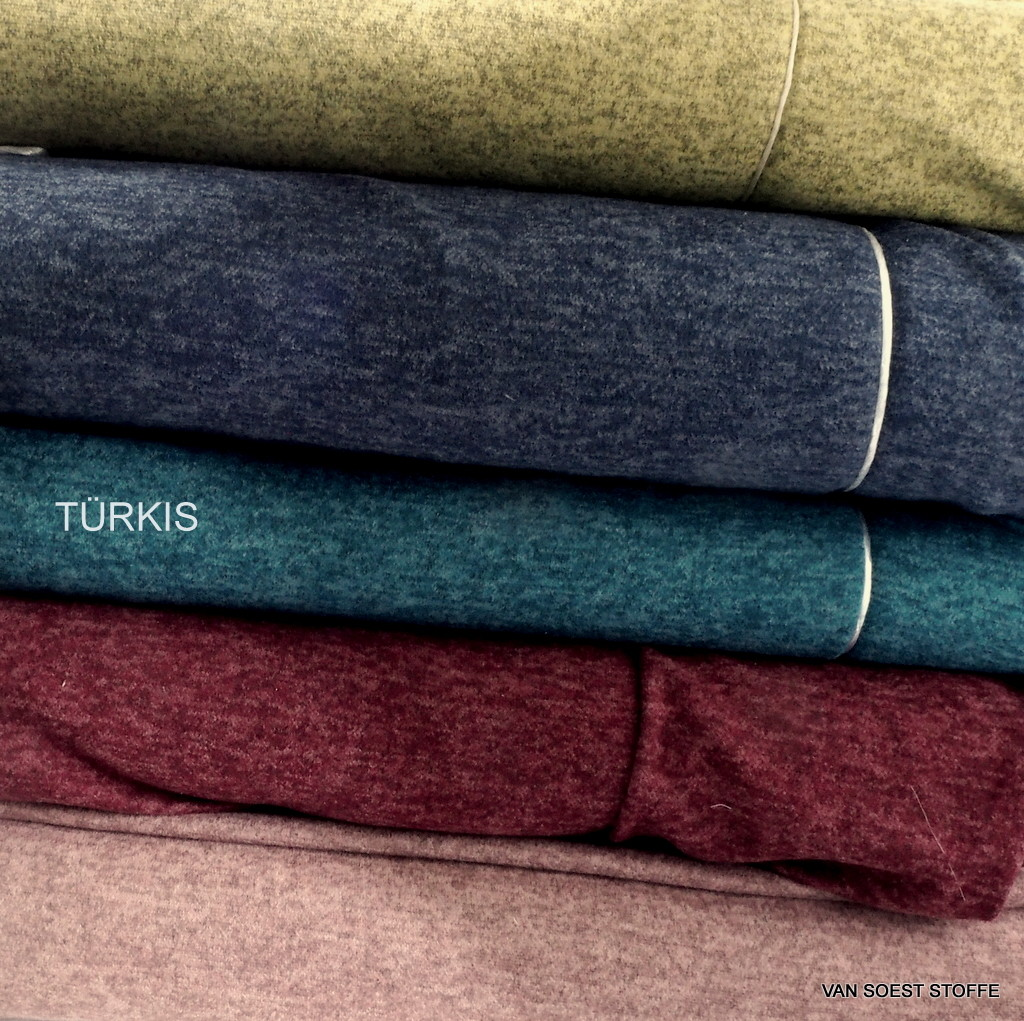 178b34305fb3 Stretch two-tone piqué knit in turqoise + 4 more colours