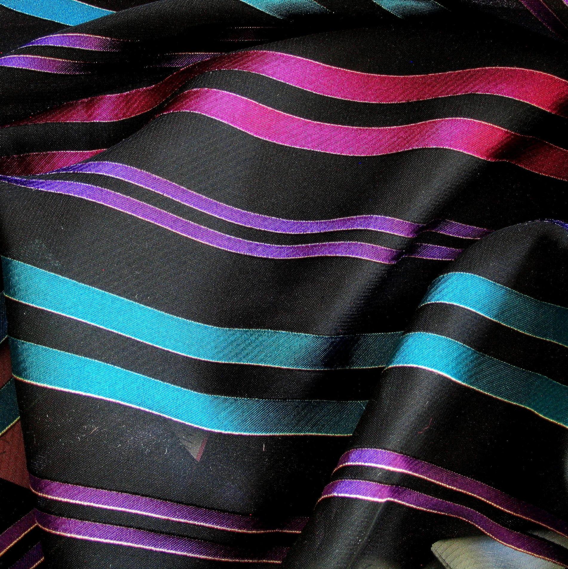 Chiffon Multi Streifen   Uni Stoffe fbac874033