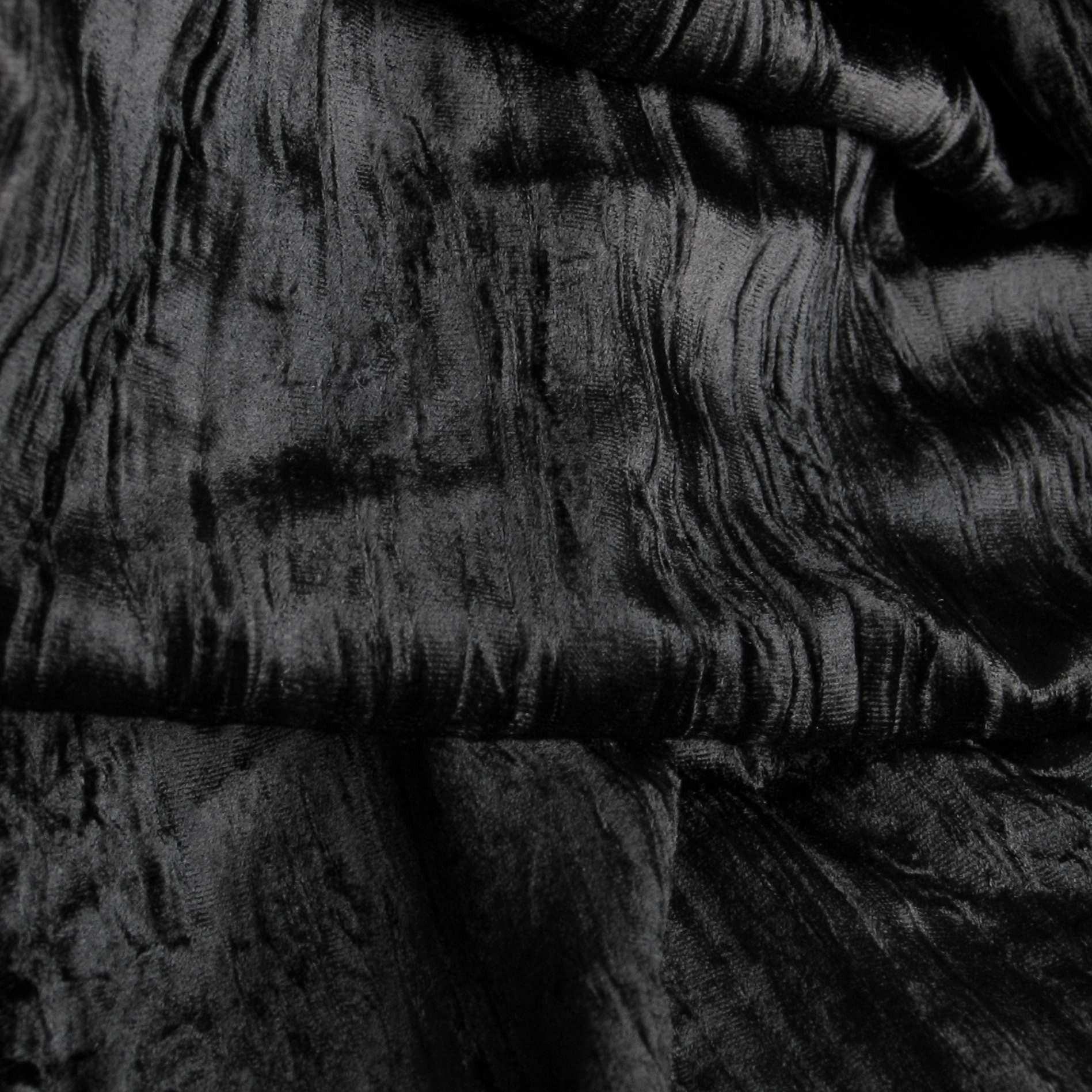 crash seidenmischung samt tief schwarz uni stoffe schwarze stoffe. Black Bedroom Furniture Sets. Home Design Ideas
