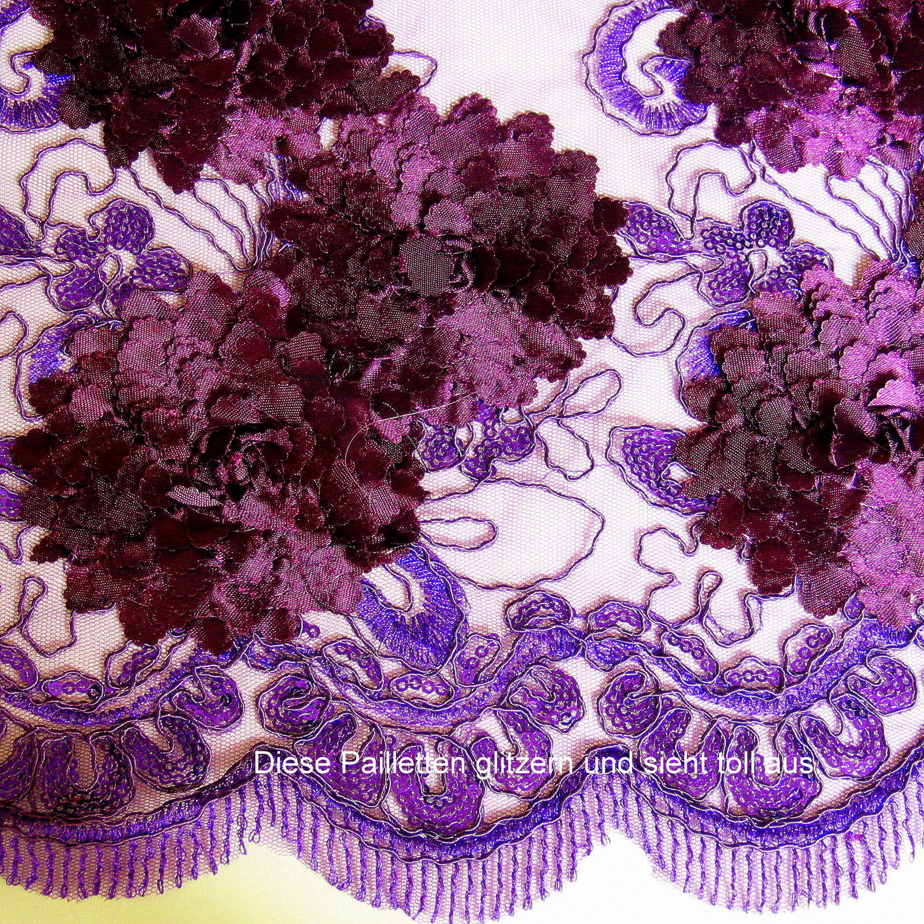 dunkel burgund lila pailletten spitze bestickte spitzen pailletten bestickte spitze. Black Bedroom Furniture Sets. Home Design Ideas